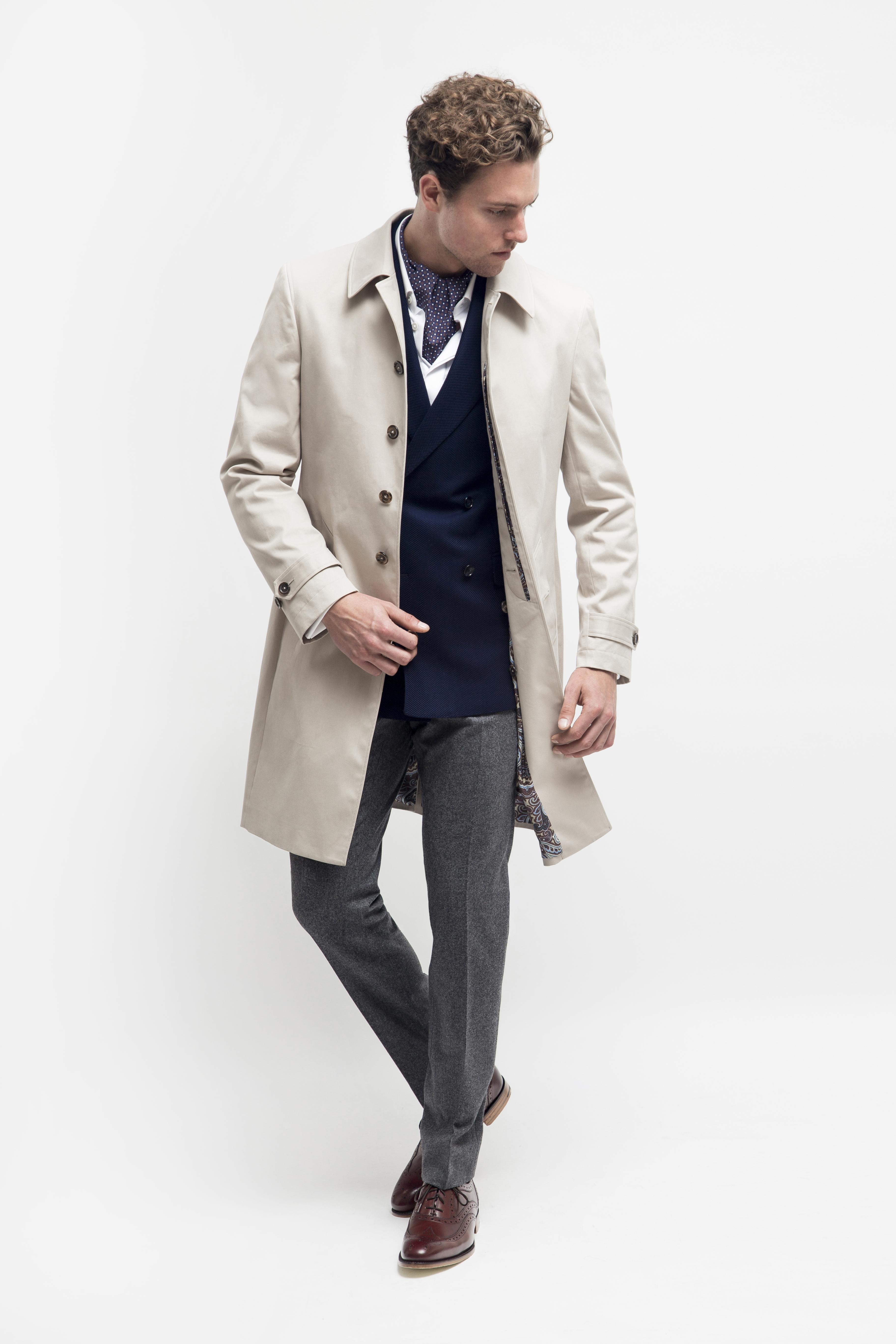 "www.richardfox.co Custom Raincoat loro piana ""Stormsystem fabric"